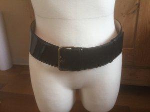 Fabiani Cinturón de cuero negro