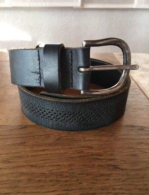 s.Oliver Cinturón de cuero de imitación gris-gris oscuro