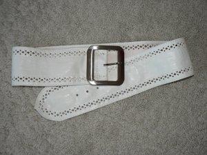 Gürtel BEST EMILIE 90 cm weiß/silber