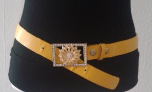 Faux Leather Belt yellow
