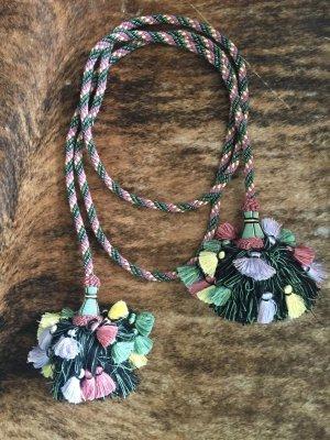 Gürtel Boho Tassels Quasten Pompon Ethno Hibbie Folklore