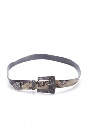 Belt brown with snake pattern
