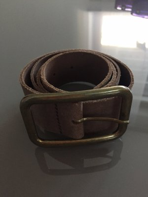 Pieces Leather Belt brown