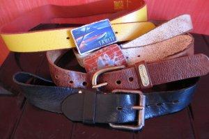 Belt multicolored leather