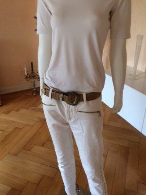 Boss Orange Leather Belt sand brown-beige leather
