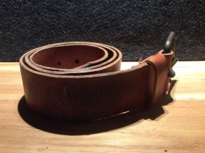 Cowboysbelt Leather Belt cognac-coloured-black brown