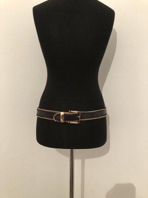 Mango Faux Leather Belt black-bronze-colored
