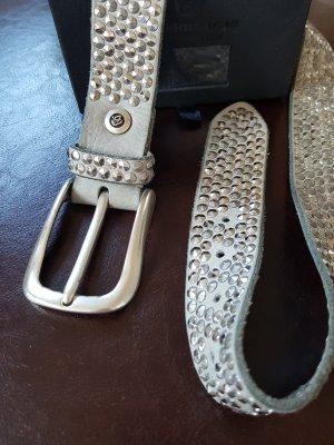 B Belt Cinturón de pinchos gris claro