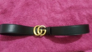 Gucci Double Belt black-dark yellow
