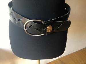 Faux Leather Belt black imitation leather