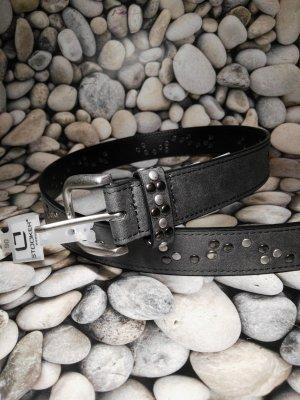 Gürtel der Marke Stooker, grau/ Nieten, Neu mit  Etikett