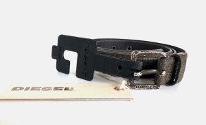Diesel Cinturón de cuero gris antracita