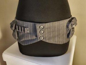 Diesel Ceinture en tissu argenté-gris clair