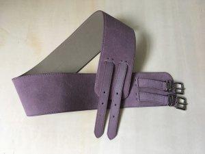 Gürtel, Echt Leder, von BENETTON, Rosa/Lila, Länge ca. 90 cm