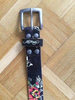 Ed Hardy Leather Belt multicolored leather