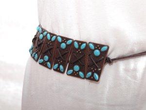 Cinturón de cadera marrón-turquesa