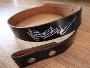 Faux Leather Belt black-white imitation leather