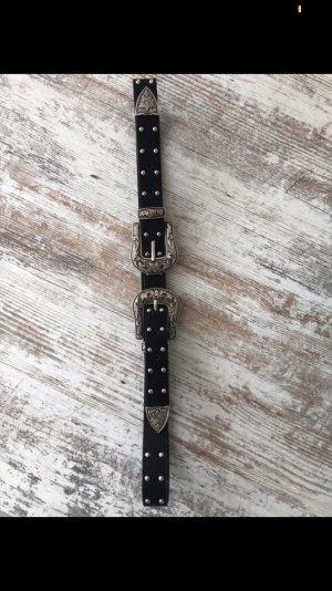 Primark Cinturón pélvico negro-color plata