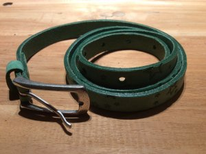 Vanzetti Leather Belt lime-green