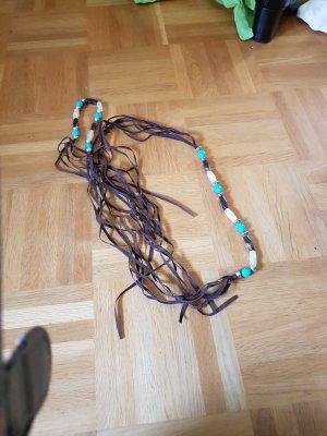 Cinturón pélvico turquesa-marrón Imitación de cuero