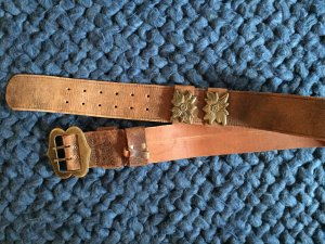Leather Belt light brown-bronze-colored leather