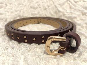 Clockhouse Faux Leather Belt bordeaux imitation leather
