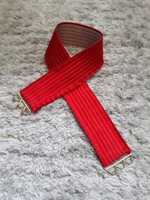 Cintura in tessuto rosso