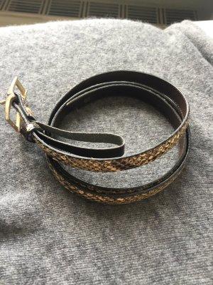 Cintura bronzo-marrone-grigio