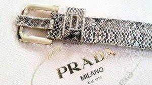 Gürtel in Schlangenoptik mit goldenen Nieten Eyecatcher Gr S Made in Italy