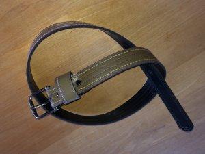 Cinturón de cuero de imitación caqui Imitación de cuero