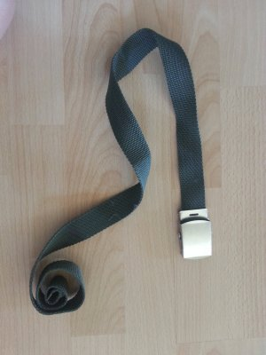 Fabric Belt dark green-silver-colored