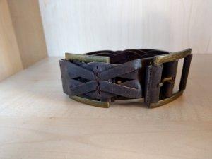 Gürtel Leder dunkelbraun Neu 100cm