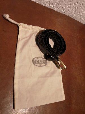 Fossil Cinturón trenzado negro