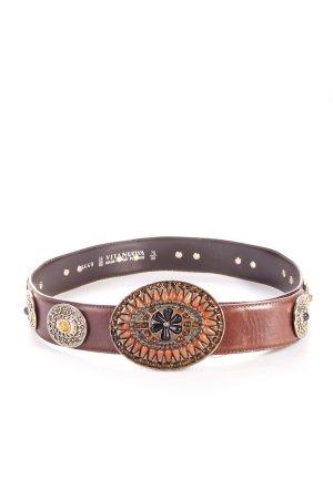 Belt Leather golden ornament