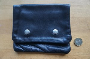 Bumbag black leather
