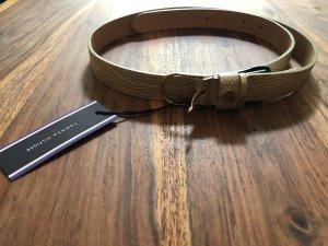 Tommy Hilfiger Cintura di pelle oro Pelle