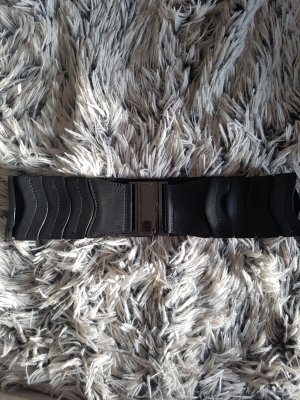 Blanco Belt black-silver-colored