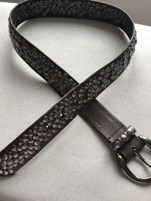 Liebeskind Studded Belt grey brown-dark grey