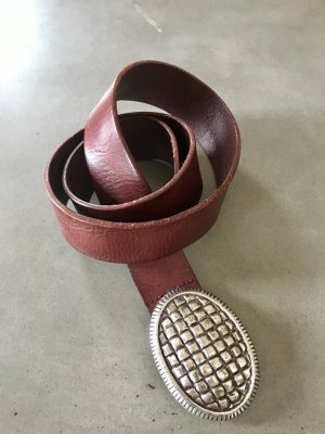 Liebeskind Berlin Leather Belt brown red
