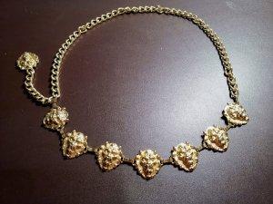 Gürtel Löwenkopf Versace Vintage Gold