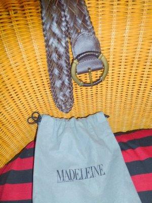 Madeleine Braided Belt brown imitation leather