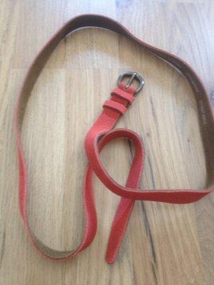 Marc O'Polo Cinturón de cadera rojo ladrillo Cuero