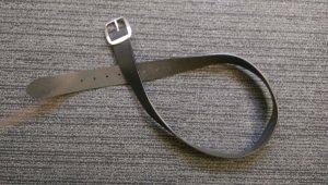 Mexx Leather Belt black leather