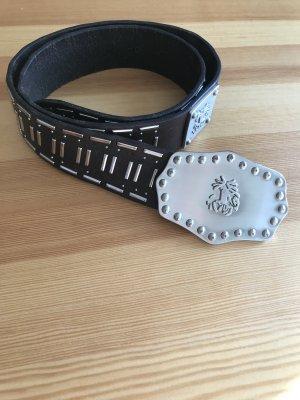 Tkmaxx Studded Belt black-silver-colored