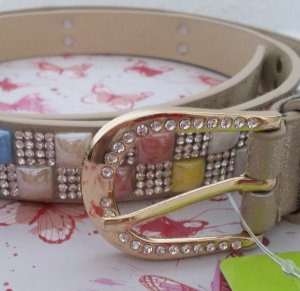Faux Leather Belt gold-colored