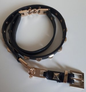 H&M Studded Belt black imitation leather