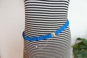 Cintura in tessuto blu-blu neon Viscosa