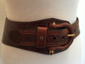 Aigner Leather Belt cognac-coloured leather