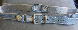 Lederen riem leigrijs-grijs