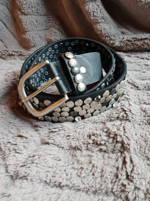 no name Belt black-silver-colored
